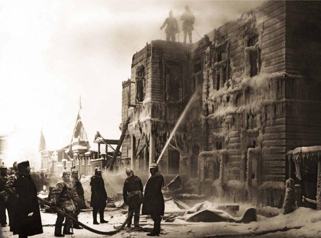 Пожарная команда XIX века