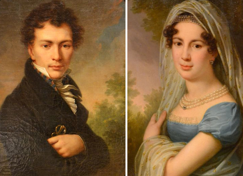 Портреты Станислава и Алоизы де Шодуаров