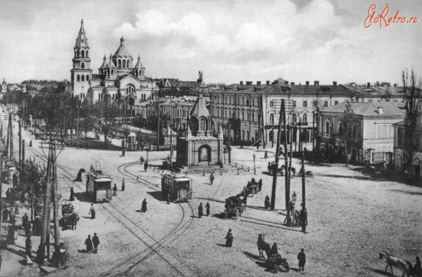 Соборная площадь Житомира в XIX веке